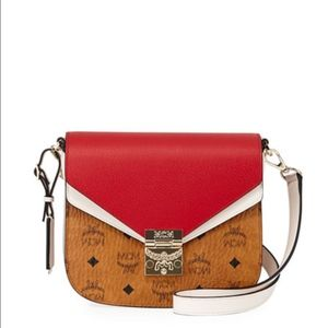 MCM Patricia Shoulder Bag in Visetos Leather Block